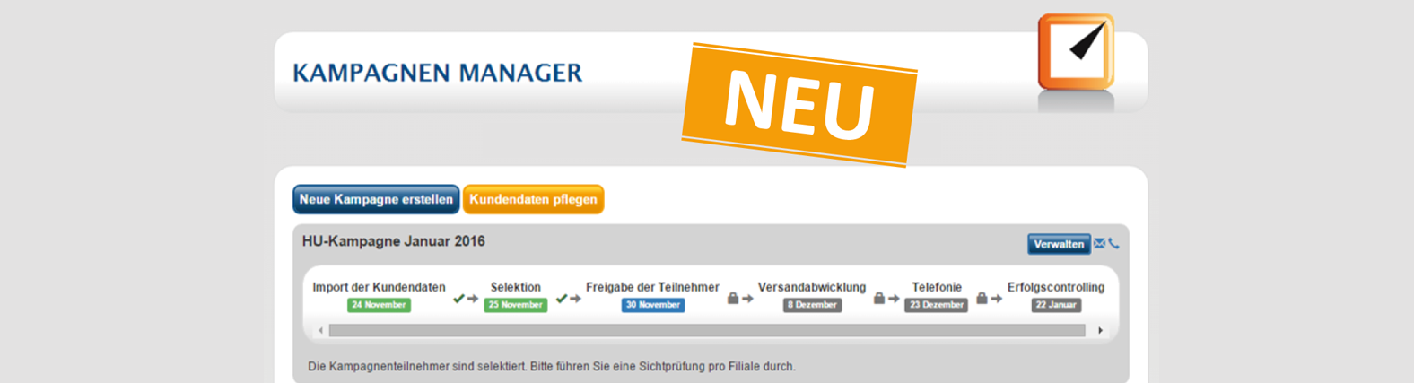 VEACT Kampagnen-Manager 2.0